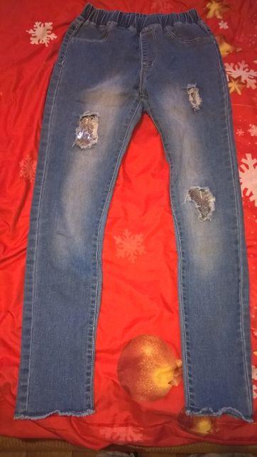 Spodnie jeans wiek 10/11 lat