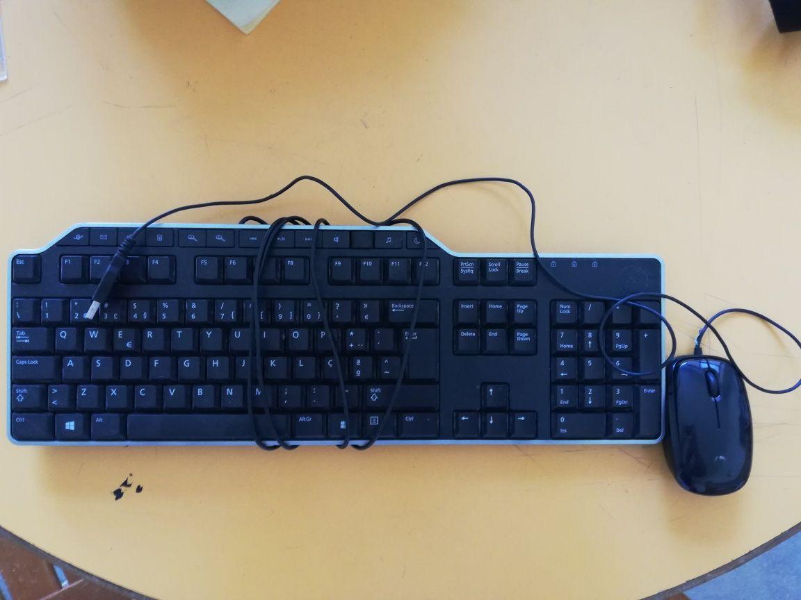 Teclado e Rato de computador