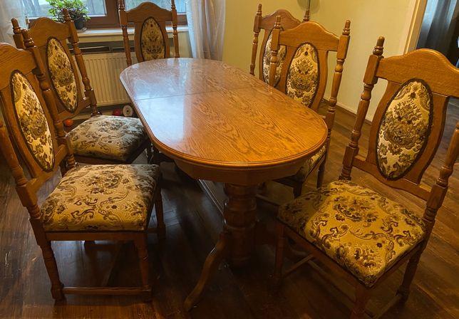 Stół rozkładany i komplet 6 krzeseł
