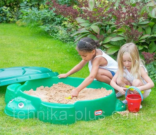 Детская песочница Черепаха с крышкой Little Tikes 173905E3