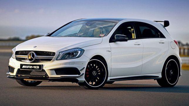 Wynajem aut/samochodu biały mercedes A45 Na ślub/na imprezę