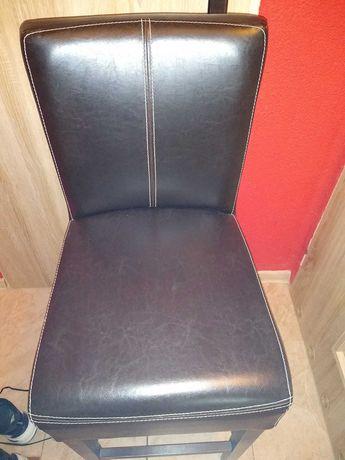 Krzesło skórzane hoker