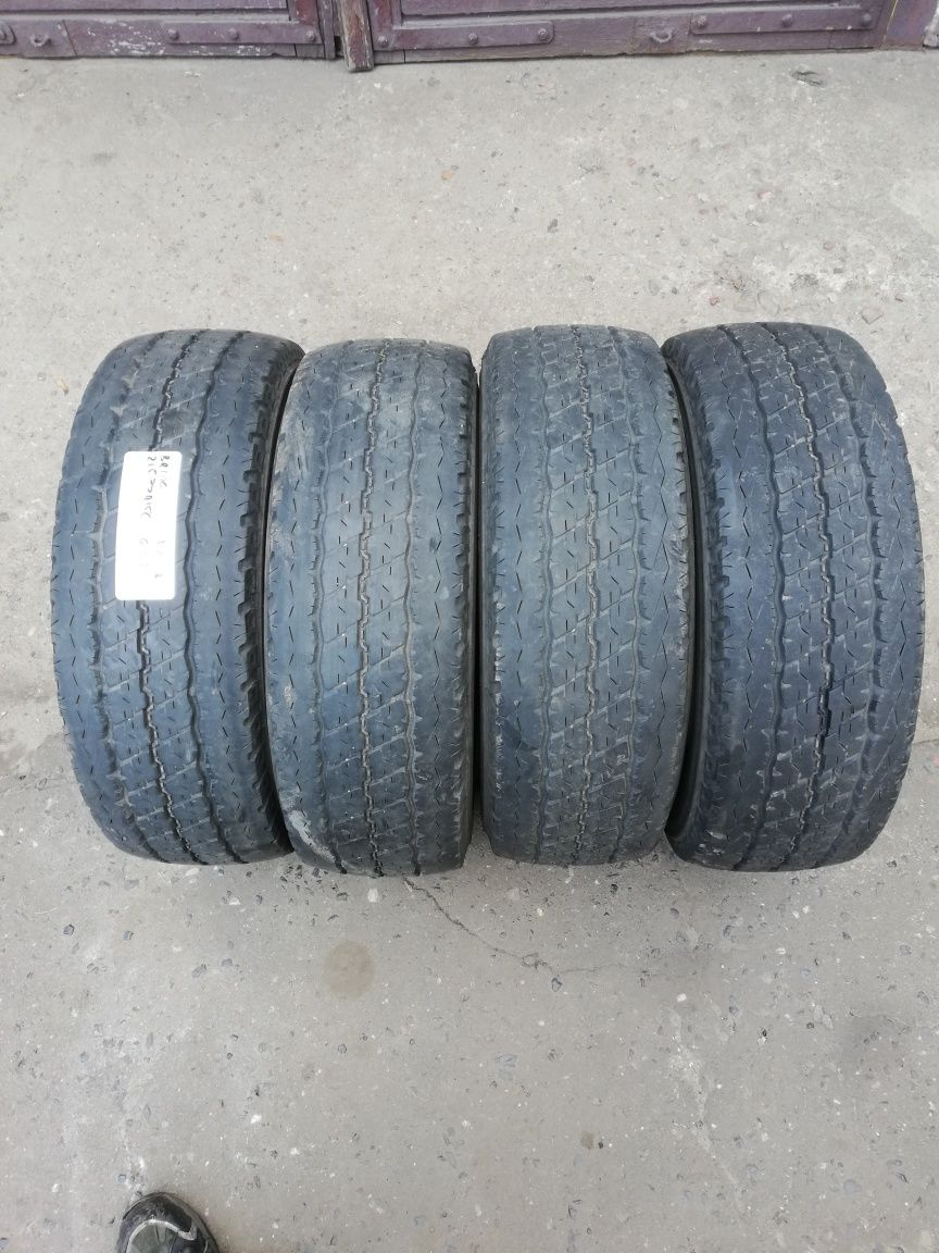 4 Opony letnie wzmocnione 215/70R15C Bridgestone Montaż Wolsztyn FV