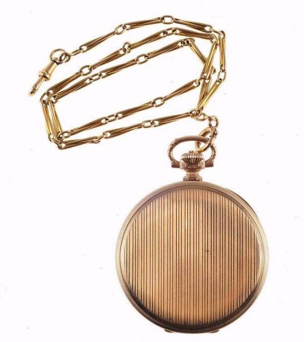 Relógio de bolso Omega em ouro