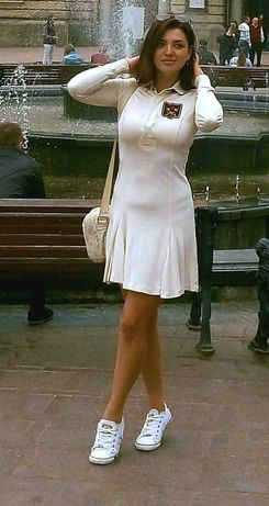 Платье чирлидершы,платье-поло Ralph Lauren Rugby Polo Винтаж