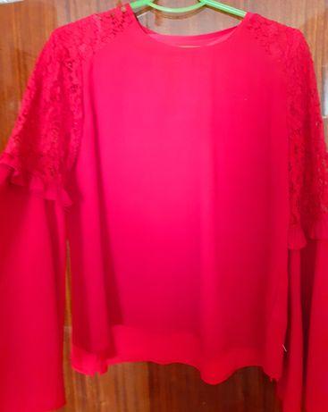Модная блуза с кружевом, M& S collection, р.14