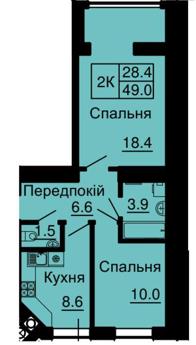 Продам двухкомнатную квартиру 49м2,София Клубный. Рассрочка без% Софиевская Борщаговка - изображение 1