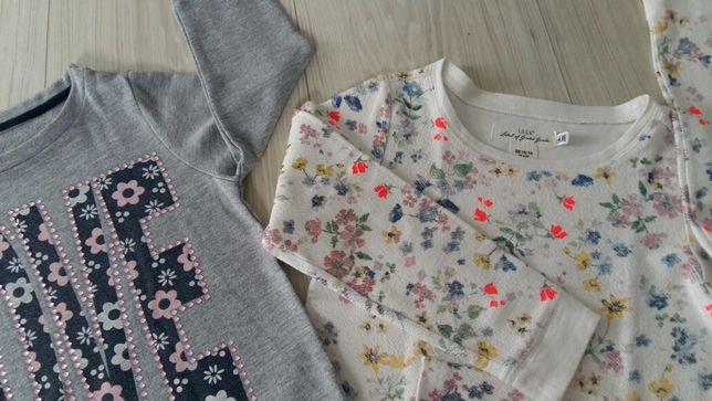 Zestaw dwie bluzy,bluzki roz 4-6lat dziewczynka H&M cena za obie