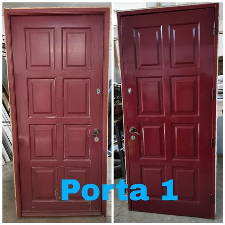 Portas de madeira maciça usadas
