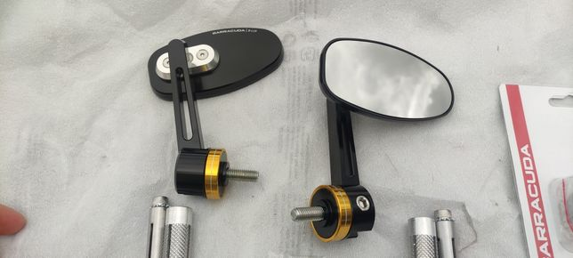 Espelhos punho mota Barracuda Skin-R B-Lux Novos