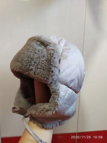 Шапка -ушанка, 44-46см, НОВАЯ, детская,зимняя, непромокаемая