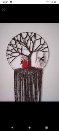 Drzewko szczęścia makrama rodzina