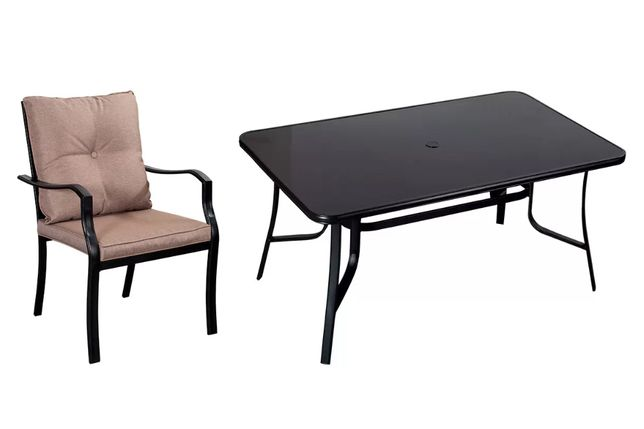 Zestaw mebli ogrodowych SYCYLIA Stół + 6 krzeseł z poduszkami