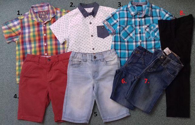 Krótkie spodenki-jeans-spodnie-koszule wizytowe 4-5lat,5-6lat,6-7lat