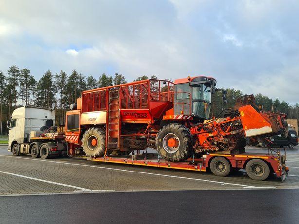 transport niskopodwoziowy kombajny maszyny rolnicze sieczkarnie