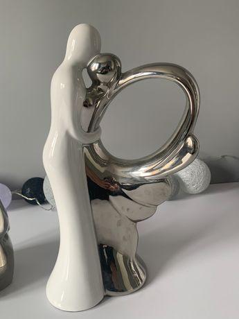 Para biało srebrna dekoracja home&you