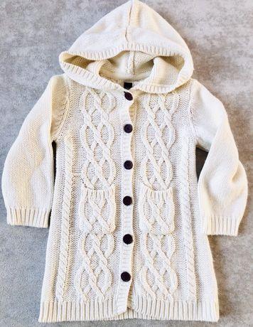 Zestaw GAP sweter rozpinany i koszulka syrenka 4 lata