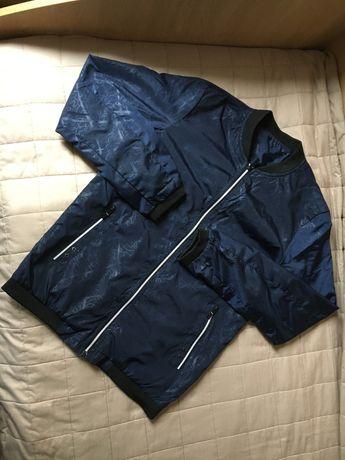 Ветровка, куртка демисезон темно-синяя на рост 164