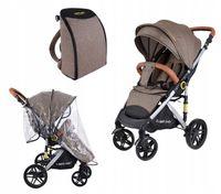 Wózek spacerówka SUMMER BABY model SEMPRE duże koła + PLECAK