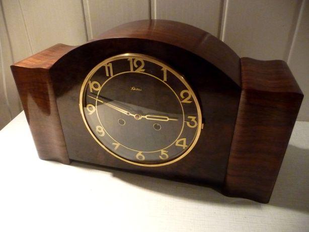 Okazały, duży zegar kominkowy Kienzle, sprawny, 4 struny, piękny stan