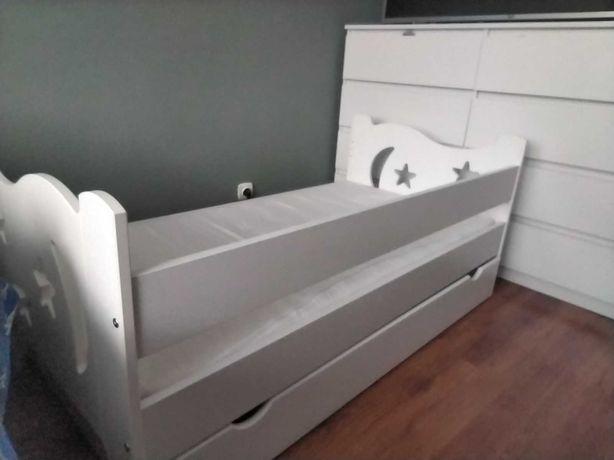Łóżko dziecięce 140 x 70 + szuflada białe
