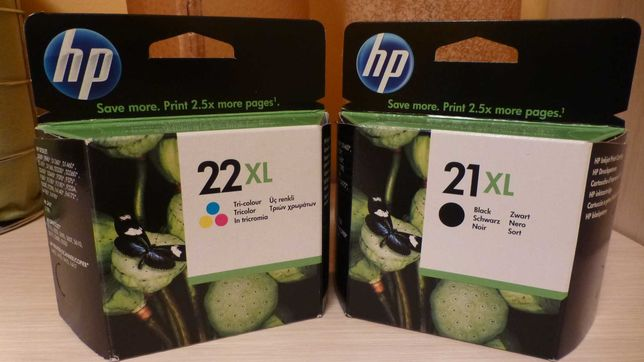 Tusz tusze HP 21xl 22xl do drukarki HP zestaw komplet