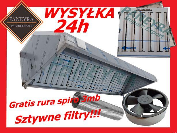 Promocja ! Okap Gastronomiczny 200x70x40 Filtry Wentylator !