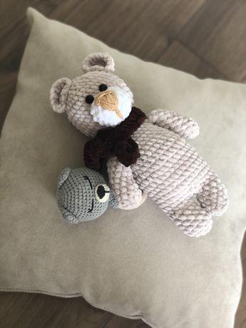 Плюшевые игрушки hand made (мишка, кит, кот Саймон)