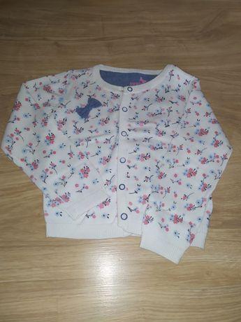 Sweterek rozpinany dla dziewczynki rozmiar 86/92 NOWY