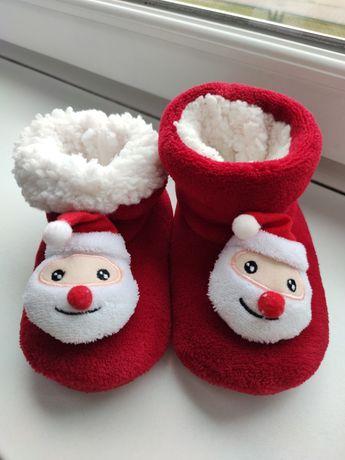 Kapcie buty buciki świąteczne święta mikołaj mikołajki