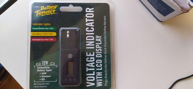 Indicador de voltagem de bateria novo, ligação SAE
