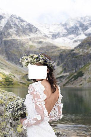 Piękna suknia ślubnia rozm. S-M