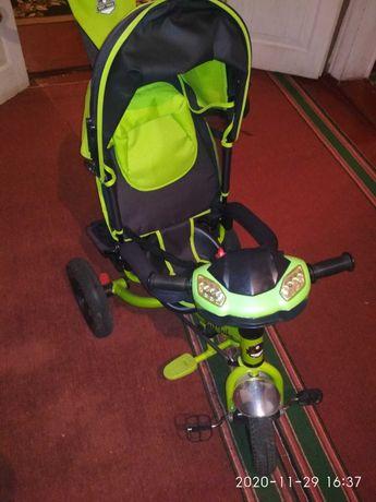 Детский трёхколёсный велосипед с родительской ручкой best trike