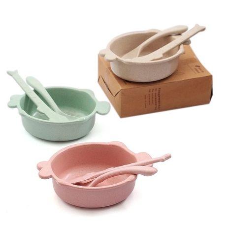 Детская ЭКО посуда тарелка вилка ложка