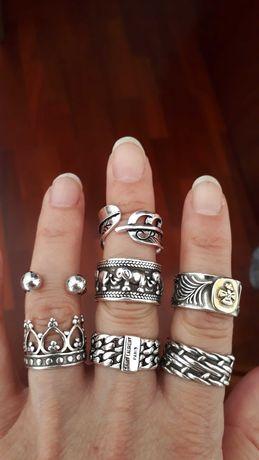 Anéis muito bonitos e originais, contrastados S925/925