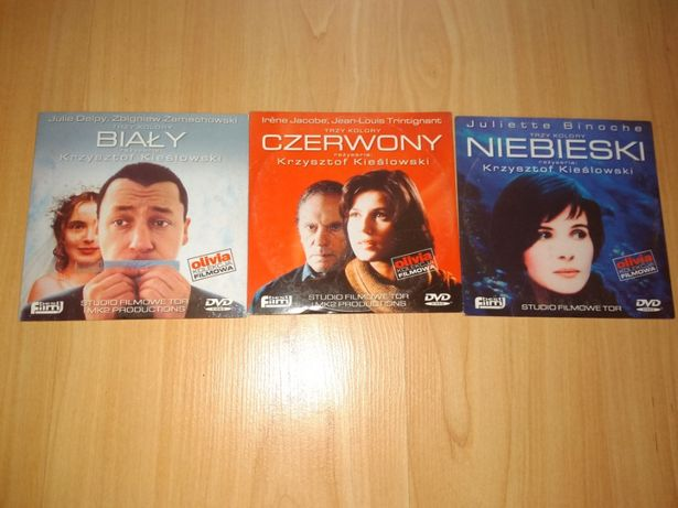 Filmy DVD Trzy kolor Biały-Czerwony-Niebieski Krzysztofa Kieślowskiego