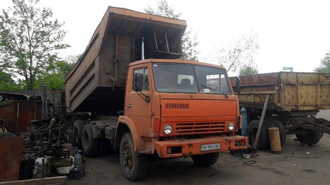 КАМАЗ 55111 с прицепом