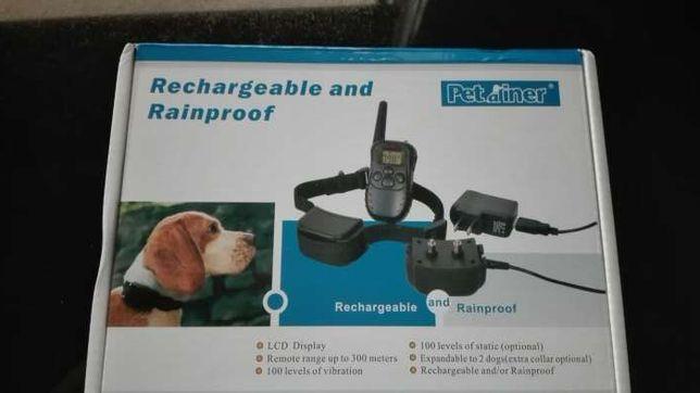 Coleira anti-latido/ladra treino carregável prova de água Envio CTT gr