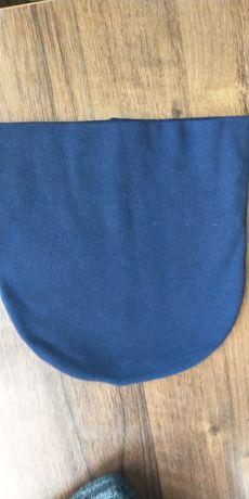 Женская шапка, двойная, тёмно-синий.