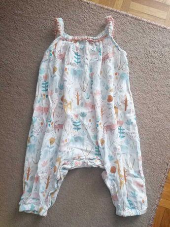 Spodnie kombinezon letni na ramiączkach spodenki marki TU r. 68-74 cm