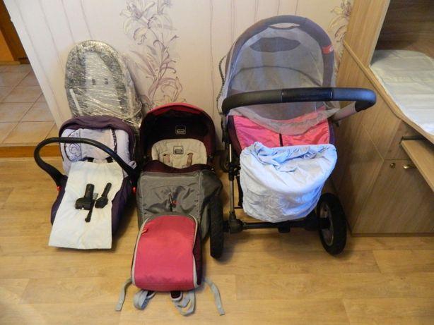 Продам коляску для девочки Espiro Vector Air: 4 в 1 + аксессуары
