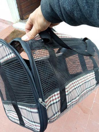 Caixa mala de transporte gatos ou cães padrão Burberry