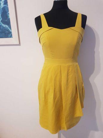 Elegancka żółta sukienka