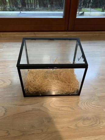 Szklane akwarium, terrarium 30x20x25