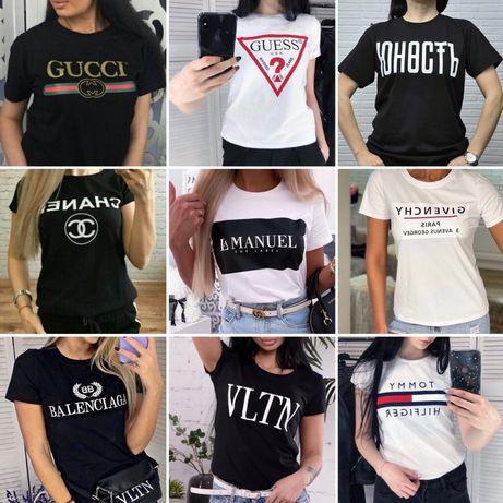 Женская футболка Vogue Guess Levis D&G VLTN armani nb Tommy ХL CHANEL