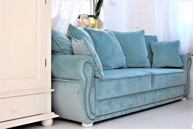 Sofa kanapa SOFIA angielski prowansalski styl funkcja spania pojemnik