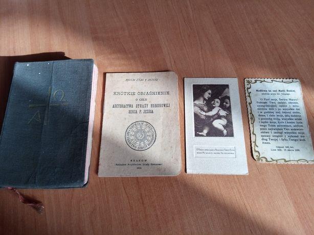 Stary modlitewnik obrazek święty
