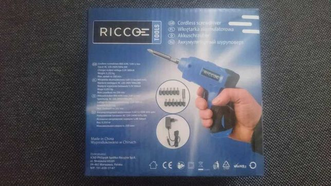 Wkrętarka akumulatorowa RICCO