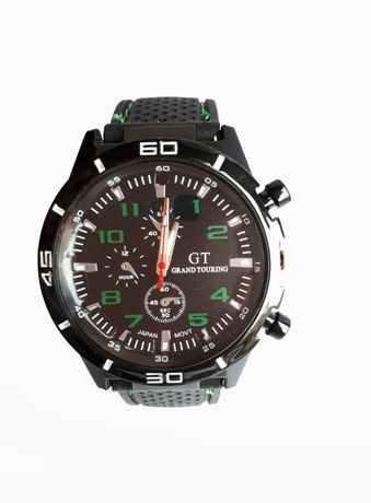 Zegarek męski kwarc GT zielony.