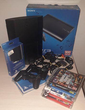 Konsola PS3 super slim 500 GB oraz dodatki